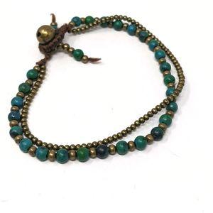 Bracelet, double & beaded